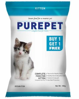 Drools Purepet Ocean Fish  Kitten Cat Food, 100 gm