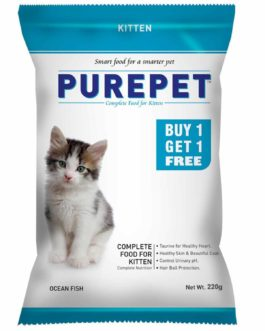 Drools Purepet Ocean Fish  Kitten Cat Food, 220 gm