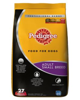 Pedigree Professional Adult Small Breed Dog Food, 3 kg Pack