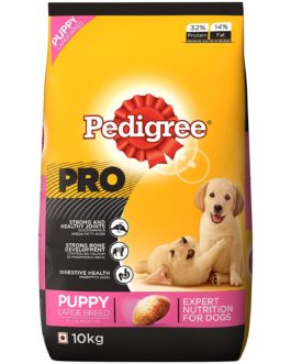 Pedigree Professional Puppy Large Breed Dog Food, 10 kg Pack